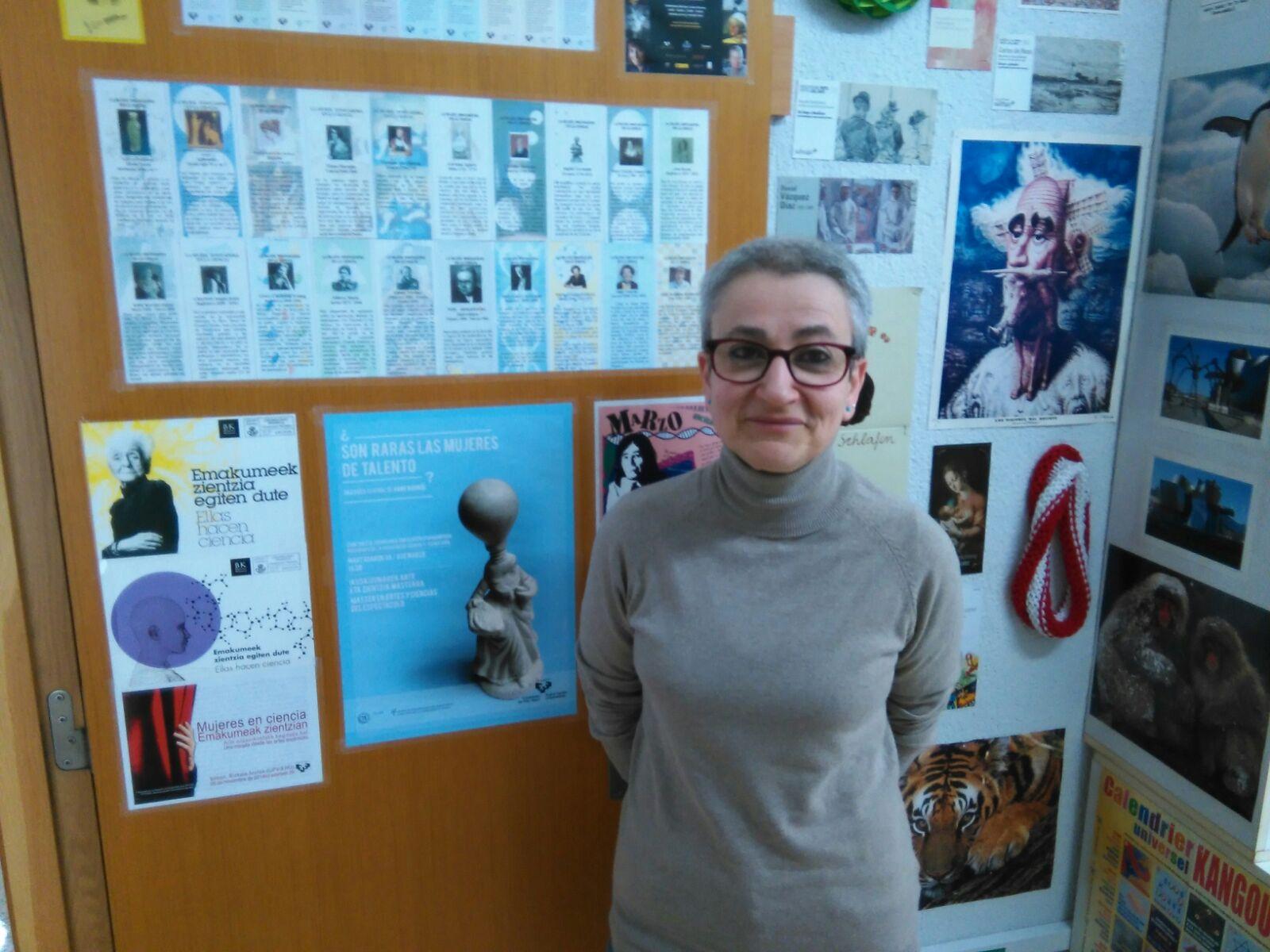 Marta Macho en su despacho de la UPV